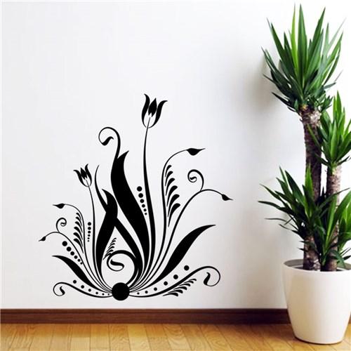 Adesivo de Parede Florais Tulipas - Médio 58X62cm