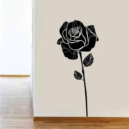 Adesivo de Parede Floral Rosa