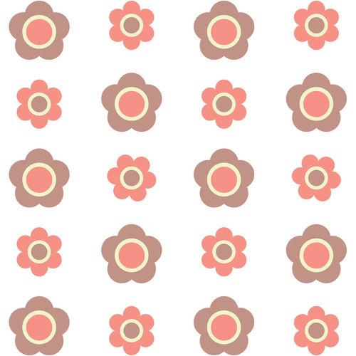 Adesivo de Parede Infantil Flores Rosa