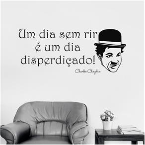 Adesivo Decorativo de Parede - Chaplin - Azul Marinho