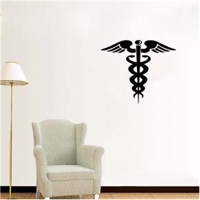 Adesivo Decorativo de Parede - Profissões - Medicina - Marrom