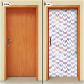 Adesivo Decorativo de Porta - Abstrato - 0.90 X 2.10 CM