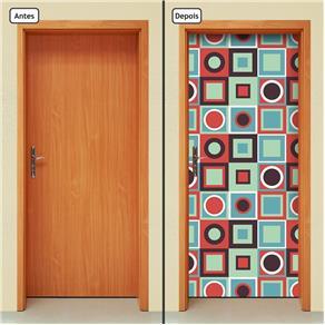 Adesivo Decorativo de Porta - Abstrato - 1415cnpt