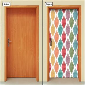 Adesivo Decorativo de Porta - Abstrato - 1424cnpt