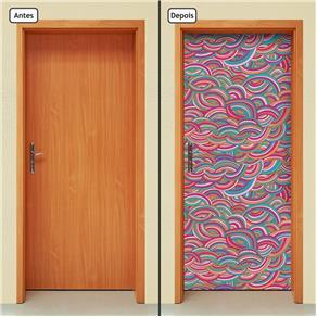 Adesivo Decorativo de Porta - Abstrato - 1467cnpt