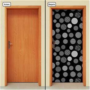 Adesivo Decorativo de Porta - Abstrato - 1504cnpt