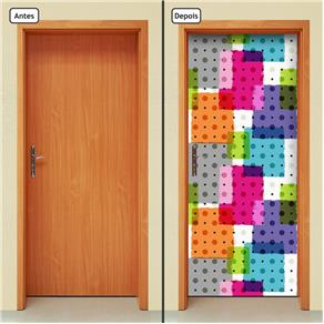 Adesivo Decorativo de Porta - Abstrato - 1505cnpt
