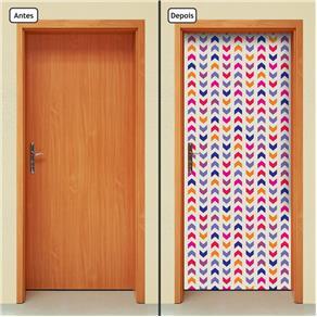 Adesivo Decorativo de Porta - Abstrato - 1503cnpt