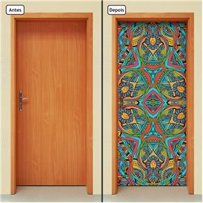 Adesivo Decorativo de Porta - Abstrato - 1511cnpt