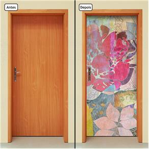 Adesivo Decorativo de Porta - Abstrato - 1565cnpt