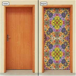Adesivo Decorativo de Porta - Abstrato - 1647cnpt