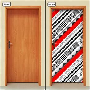 Adesivo Decorativo de Porta - Abstrato - 1667cnpt