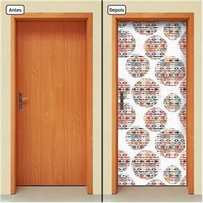 Adesivo Decorativo de Porta - Abstrato - 1662cnpt