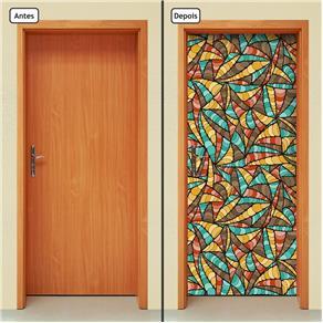 Adesivo Decorativo de Porta - Abstrato - 1697cnpt