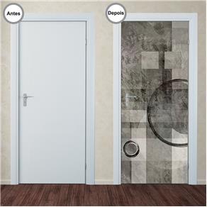 Adesivo Decorativo de Porta - Abstrato - 216pt
