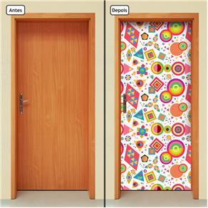 Adesivo Decorativo de Porta - Abstrato - 1800cnpt