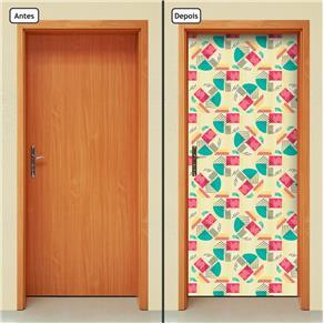 Adesivo Decorativo de Porta - Abstrato - 1801cnpt