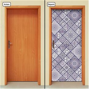 Adesivo Decorativo de Porta - Abstrato - 1843cnpt