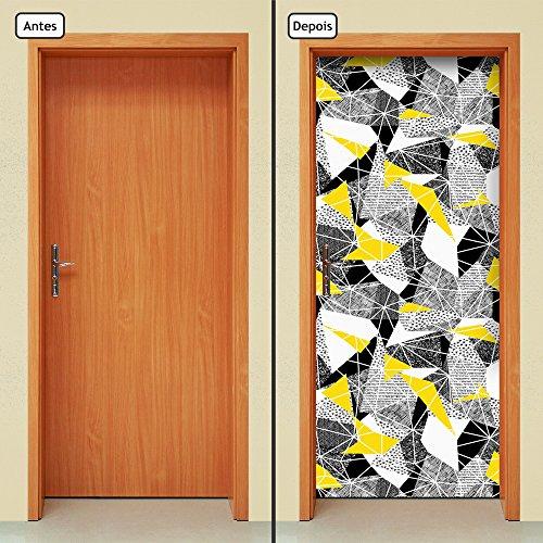 Adesivo Decorativo de Porta - Abstrato - 1850cnpt