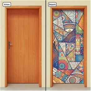 Adesivo Decorativo de Porta - Abstrato - 1833cnpt