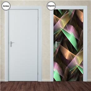 Adesivo Decorativo de Porta - Abstrato - 123pt - 0,90m X 2,10m