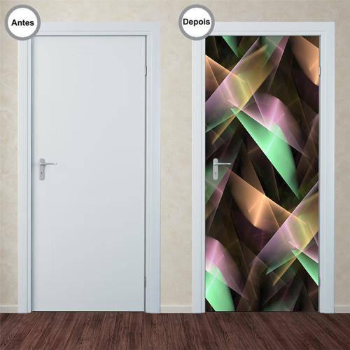 Adesivo Decorativo de Porta - Abstrato - 123pt