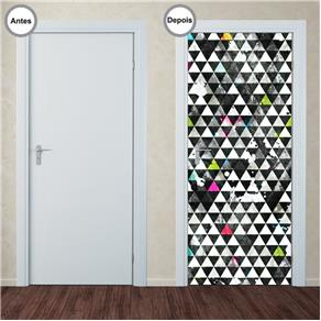 Adesivo Decorativo de Porta - Abstrato - 340pt