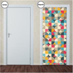 Adesivo Decorativo de Porta - Abstrato - 341pt