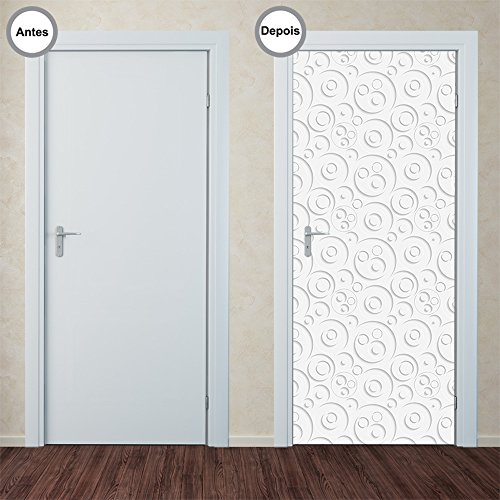 Adesivo Decorativo de Porta - Abstrato - 349pt