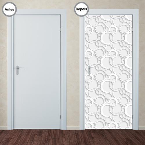 Adesivo Decorativo de Porta - Abstrato - 350pt