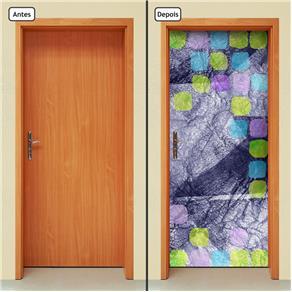 Adesivo Decorativo de Porta - Abstrato - 577cnpt