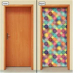 Adesivo Decorativo de Porta - Abstrato - 573cnpt