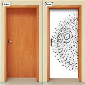 Adesivo Decorativo de Porta - Abstrato - 656cnpt - 0.90 X 2.10 CM
