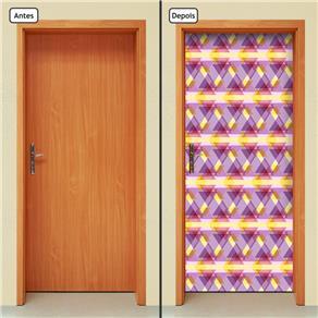 Adesivo Decorativo de Porta - Abstrato - 657cnpt - 0.90 X 2.10 CM