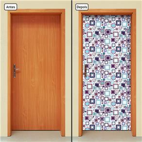 Adesivo Decorativo de Porta - Abstrato - 693cnpt - 0.90 X 2.10 CM