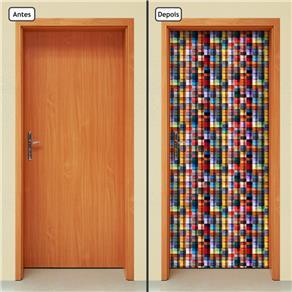 Adesivo Decorativo de Porta - Abstrato - 710cnpt - 0.90 X 2.10 CM