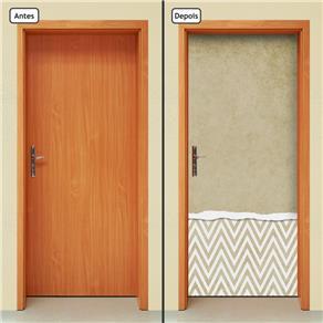 Adesivo Decorativo de Porta - Abstrato - 751cnpt - 0.90 X 2.10 CM