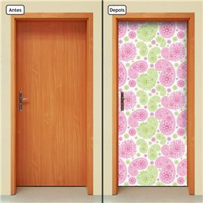 Adesivo Decorativo de Porta - Abstrato - 777cnpt - 0.90 X 2.10 CM