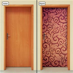 Adesivo Decorativo de Porta - Abstrato - 783cnpt - 0.90 X 2.10 CM