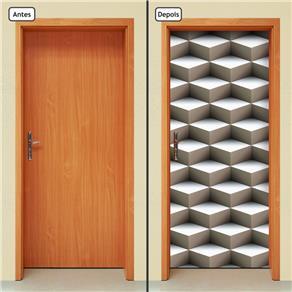 Adesivo Decorativo de Porta - Abstrato - 835cnpt - 0.90 X 2.10 CM