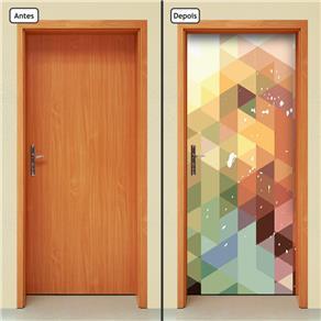 Adesivo Decorativo de Porta - Abstrato - 833cnpt - 0.90 X 2.10 CM