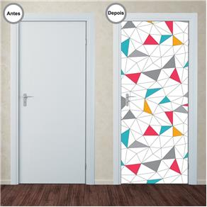 Adesivo Decorativo de Porta - Abstrato - 338pt