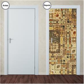 Adesivo Decorativo de Porta - Abstrato - 298pt