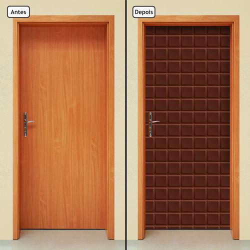 Adesivo Decorativo de Porta - Barra de Chocolate - X440cnpt