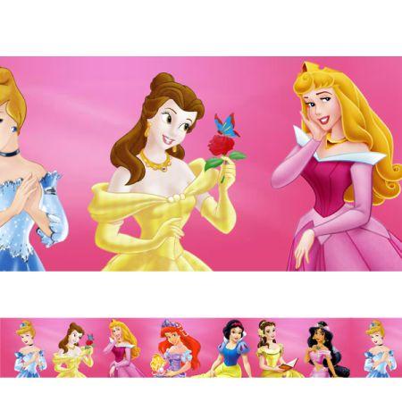 Tudo sobre 'Adesivo Decorativo Faixa para Quarto Infantil Faixa das Princesas'
