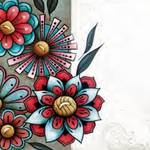 Tudo sobre 'Adesivo Decoupage 13x13 Flores XIII LAXIII-011 - Litocart'