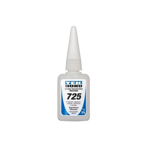 Adesivo Instantâneo Cianoacrilato 20 Gramas - 725 - Tekbond (Incolor)