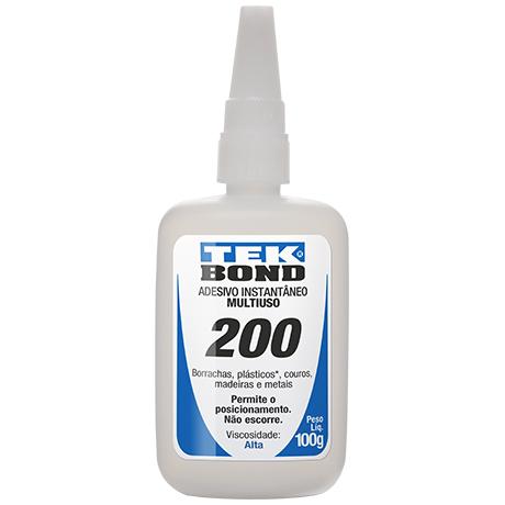 Adesivo Instantâneo Multiuso 200 100g Tekbond