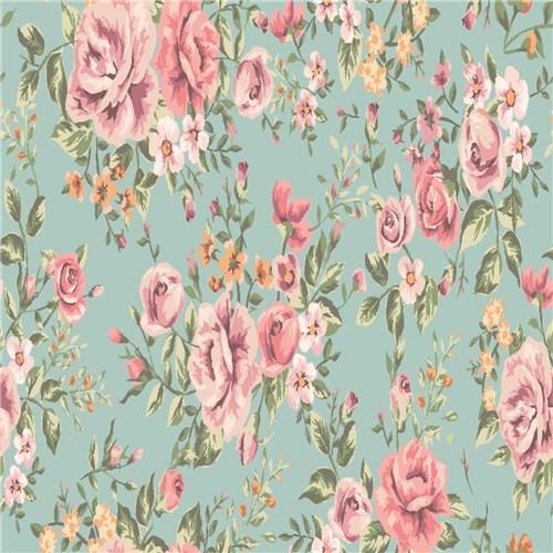 Adesivo Papel de Parede Flores Rosa