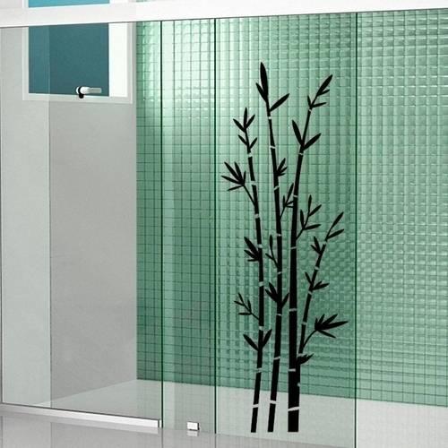 Tudo sobre 'Adesivo para Box de Banheiro Bambu'